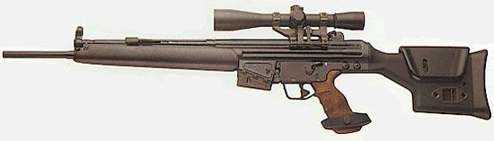 HK SR9TC с магазином на 5 патронов