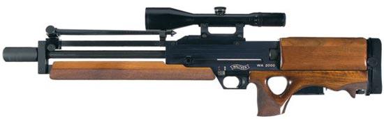 Walther WA 2000 сошки сложены над стволом