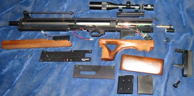 Walther WA 2000 неполная разборка