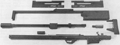 Walther WA 2000 основные компоненты (без деревянных элементов)