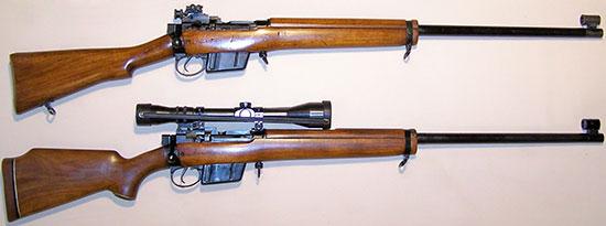 L39A1 (сверху) и Enforcer (снизу)