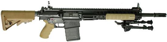 L129A1 Sharpshooter rifle с установленными сошками и без оптического прицела