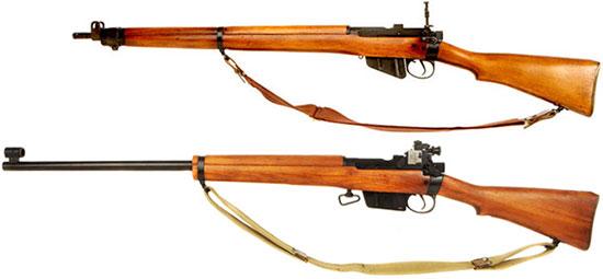 L39A1 (снизу) и  No.4 Mk 2 (сверху)