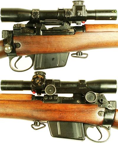 Вид на оптический прицел и элементы управления L42A1