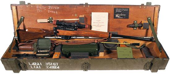 Ящик для транспортировки L42A1 с принадлежностями