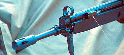 откидная рукоятка затвора HK 33 SG1 указана стрелкой