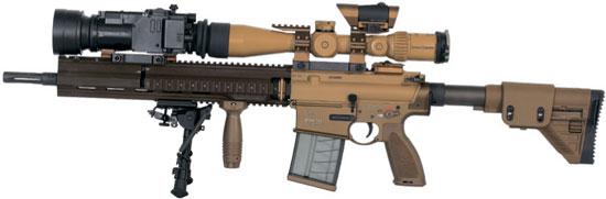 Heckler & Koch HK G28 Standard оснащенная ночным прицелом