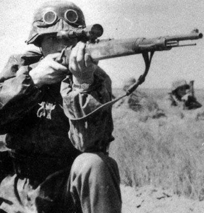 Zf. Kar. 98k используемая немецким солдатом
