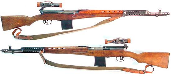 Снайперская винтовка СВТ-40 с усовершенствованным дульным компенсатором-пламегасителем