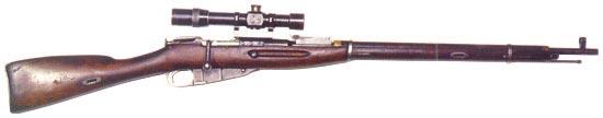 Снайперская винтовка Мосина образца 1891/1930 с оптическим прицелом ВП