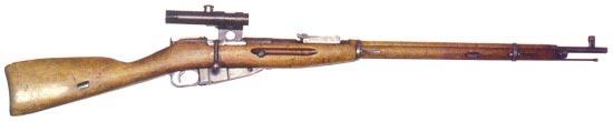 Снайперская винтовка Мосина образца 1891/1930 с оптическим прицелом ПУ