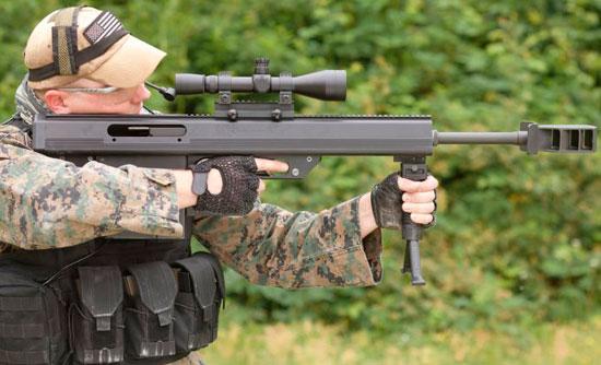 благодаря сравнительно небольшому весу и размерам, винтовка Leader 50 / MD 50 допускает прицельную стрельбу с рук