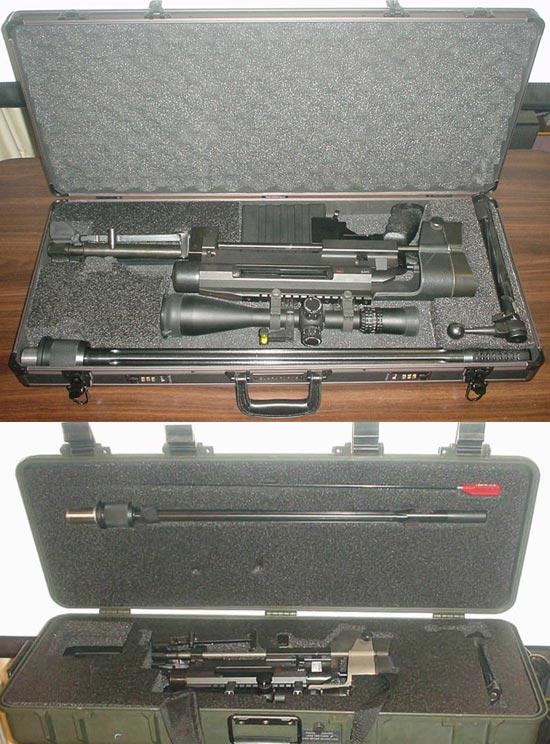 Windrunner M96 (выше) Windrunner M98 (ниже) в кофрах для транспортировки
