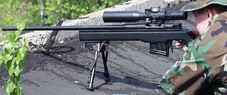 ВК-003 (СВК) при стрельбе