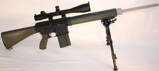 Снайперская винтовка Armalite AR-10(T) на сошках