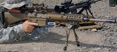 M110 SASS при стрельбе