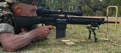 Mk11 mod.0 при стрельбе