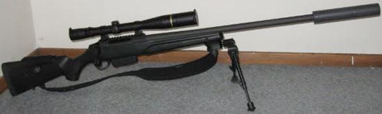 Tikka T3 Tactical с установленным глушителем