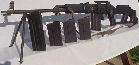 Valmet M-78/83S оптический прицел отсоединен, но хорошо виден кронштейн для его крепления