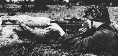 Gew.43 / Kar.43 при использовании немецким снайпером