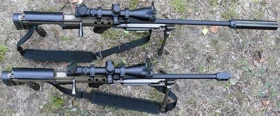 Bor / Alex с длиной ствола 660 мм (сверху) и длиной ствола 560 мм (снизу)