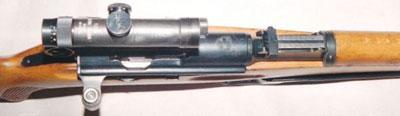 вид на прицельные приспособления винтовки ZfK-55