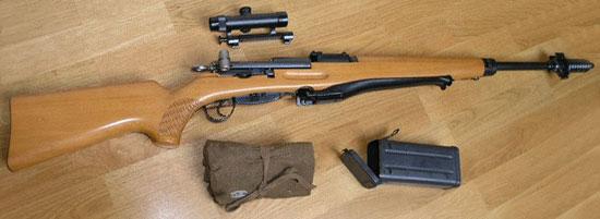 винтовка Schmidt-Rubin K31/55 / ZfK-55, оптический прицел и коробка для его транспортировки, набор инструментов и дополнительных деталей