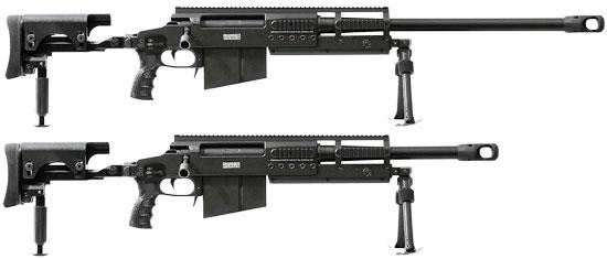 SAN 511-2 с длиной ствола 700 мм (сверху) и длиной ствола 445 мм (снизу)