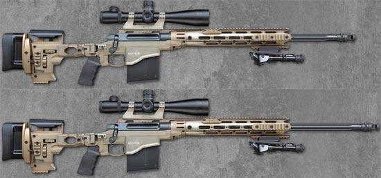 Remington MSR со стволом длиной 610 мм (сверху) и со стволом длиной 686 мм (снизу)