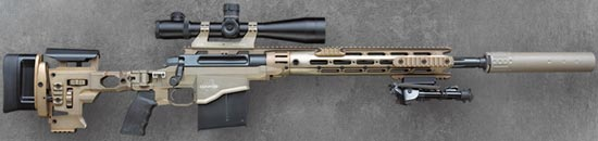 Remington MSR (Modular Sniper Rifle) с установленным глушителем
