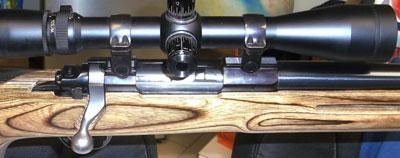 Ruger M77 Mk II VLE вид на затвор и крепление оптики