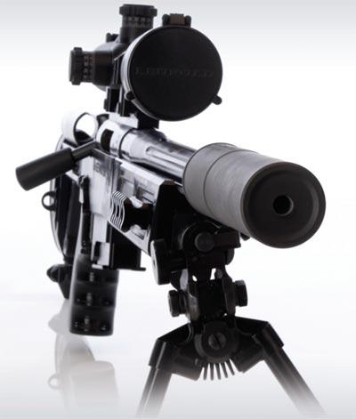 RPA Rangemaster 7.62 STBY с установленным глушителем