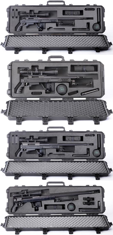 RPA Rangemaster в контейнерах для транспортировки Rangemaster 7.62 Rangemaster 7.62 STBY Rangemaster .338 Rangemaster .50 (сверху-вниз)