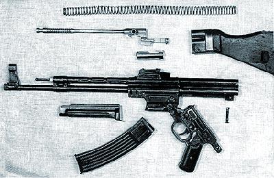 Неполная разборка автомата MP43