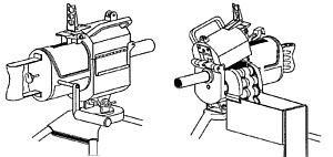 Рисунок двух видов одного из первых 40-мм американских гранатометов Mk.18 mod.0 (1962), использовавшегося войсками США во Вьетнаме. В отличие от последующих моделей, этот образец не был в прямом смысле