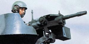 40-мм автоматический гранатомет CIS 40GL сингапурской разработки, установленный в башне бронетранспортера.