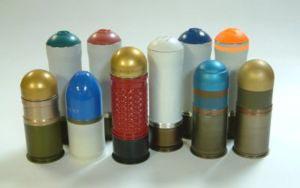 различные типы боеприпасов для 40мм гранатометов, используемых в странах НАТО (М76, М203, НК69 и др.)