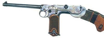 Автоматический пистолет Борхардта М.1893 кал. 7,65 мм. Прототип знаменитого Парабеллума.