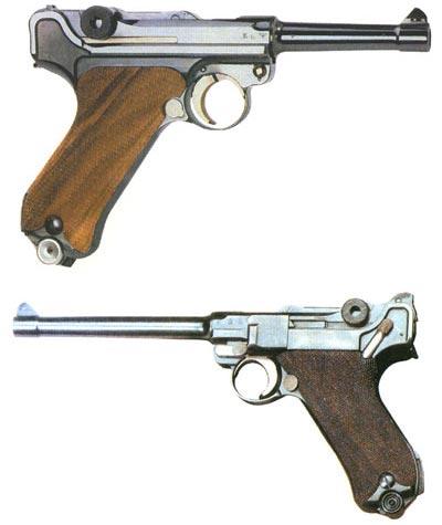 Заботливо переделанные Маузером пистолеты P 08 можно узнать по старым клеймам военных ведомств. Но спереди на рукоятках все они имеют новые данные и вместе со свидетельством завода Маузера в Оберндорфе хранятся в пластиковом чемоданчике.