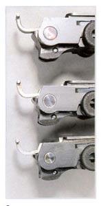 Сверху вниз: диаметры осей кривошипа пистолетов образца 04-14, 04-08 и 04-06.