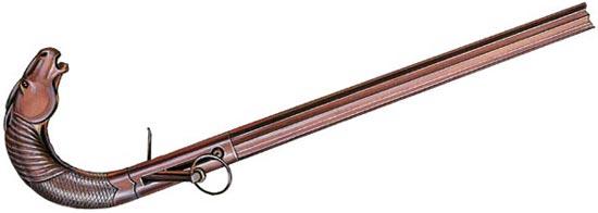 Бельгийская дульнозарядная капсюльная трость с гладким стволом и плоским курком. Первая половина XIX века