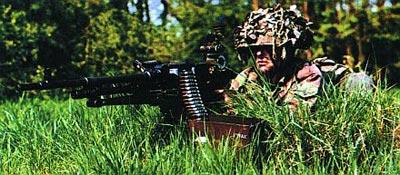 Единый пулемет FN MAG в бельгийской армии