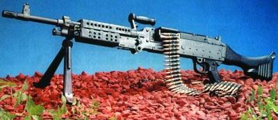 Единый пулемет М 240В, принятый на вооружение американской армии в качестве основного пулемета