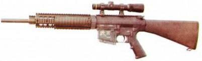 рис. 15. Спортивно-целевая винтовка SR-25 LMR, на которой установлено цевье модели SR-25 RAS Free Floating Barrel