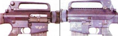 рис. 9. Ствольная коробка (ресивер) винтовки SR-25 (вид слева и справа)