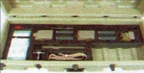 Размещение комплектующих снайперской системы ХМ 110 SASS в нижнем поддоне транспортного контейнера