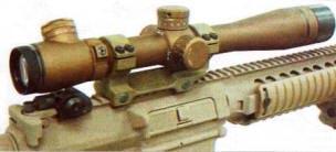 Прицел Leupold Mark 4 3-10X LR/T (ХМ151), установленный на винтовку XM110 SASS