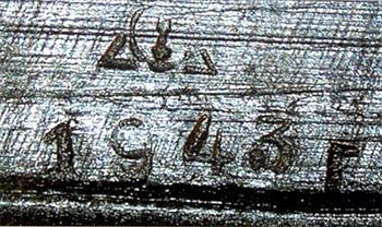 Рис. 12. Клеймо саратовского завода №614 НКВ на ПТРС, 1943 г.