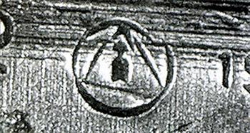 Рис. 13. Клеймо ижевского завода №622 на ПТРС, 1943 г.