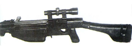 Рис. 21. ПТРС с опытными оптическим прицелом ПУГ и кронштейном, 1944 г.